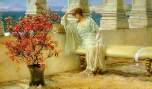 1897 Her Eyes are with her Thoughts oil on wood sir lawrence alma tadema