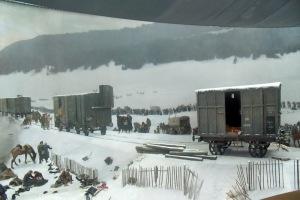 Bourbaki Panorama, Faux Terrain con un vero vagone dell'epoca