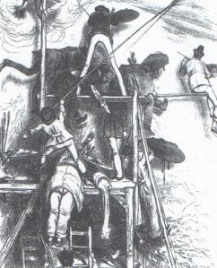 A. Oberlander, Caricatura di pittori panoramisti, 1887, litografia, collezione privata.