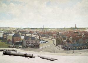 Veduta della Spiaggia di Scheveninge. In primo piano il Faux Terrain