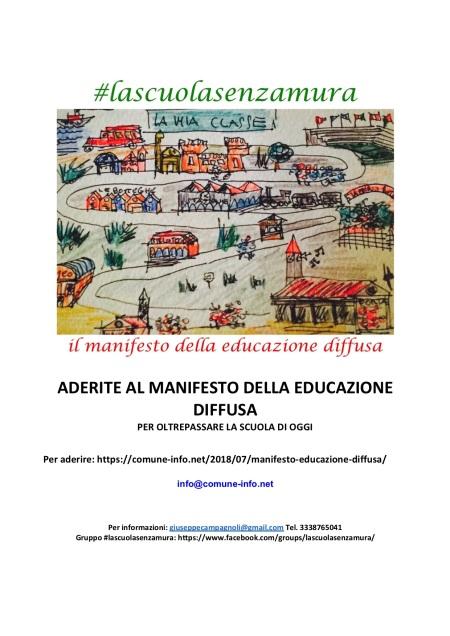 volantino adesioni 2019 l manifesto della educazione diffusa